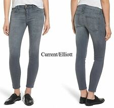 $208 CURRENT/ELLIOTT THE STILETTO SKINNY GREY LEOPARD JEAN. MADE IN USA.  SZ 26