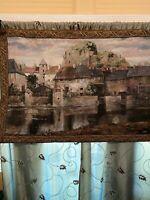 "Duvall Tapestry ""La Seyne Sur Mer"" French Riviera Wall Hanging 54"" X 38"" EUC"