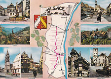 Alsace Wine Route Map France Postcard used VGC
