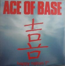 "ACE OF BASE - HAPPY NATION 7"" VINYL SINGLE 1990s POP EX/EX"