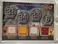 Michael Jordan Kobe Bryant Lebron James Julius Erving 2017 Leaf Q #9/9 Game Used
