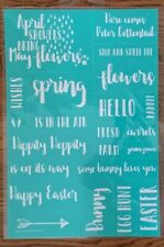 NIP Chalk Couture SPRING WORDS transfer- RETIRED; QUICK SHIPPING!!!