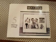 Collage Picture Frame Malden International Designs 4 Opening Holds 4 by 6 Inch