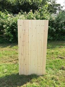 Solid flat top T&G redwood garden gate ledged and braced hand made in the UK