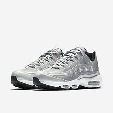 Mens NIKE AIR MAX 95 PREMIUM QS Silver Trainers Shoes UK 11 EUR 46