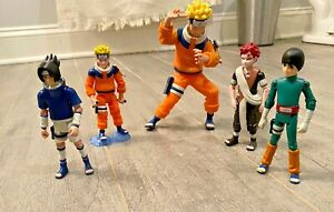 NARUTO LOOSE FIGURE LOT SHONEN JUMP UZUMAKI SASUKE ROCK LEE  5 PCS Mattel 2002