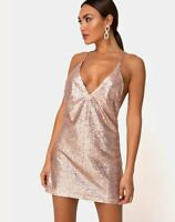 MOTEL ROCKS Ringo Finn Dress in Rose Sequin  Medium M  (mr100)