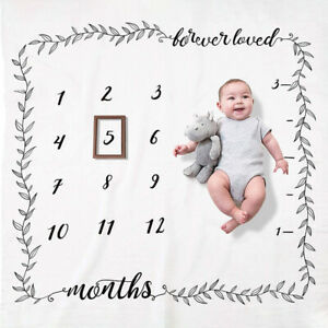 Baby Newborn Monthly Growth Milestone Blanket Photography Prop Background Cloth