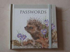 Gorgeous WRENDALE Internet Password Book - HEDGEHOG - NEW