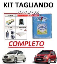 KIT FILTRI TAGLIANDO+ FILTRO GAS +OLIO SELENIA FIAT PANDA 500 LANCIA YPSILON GPL