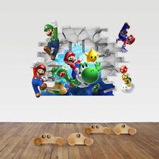 Super Mario Wandtattoo Wandaufkleber 3D Optik XXL Kinderzimmer