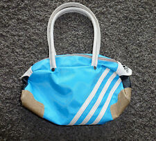 Adidas Handtasche, Tasche, Clutch, mittelblau mit creme, cool, sportlich, neu