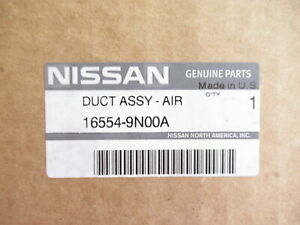 Genuine OEM Nissan 16554-9N00A Upper Air Intake Duct Inlet 2009-14 Maxima