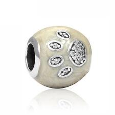 Fine Dog Footprints Charm Big Hole Bead Fit European Charm Bracelet Diy