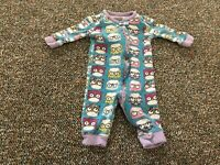The Children's Place Girls Owl Footless PJs 0-3M