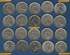 Lot de 20 pièces de 5 Francs Semeuse TB à SUP - Vème République, 1959