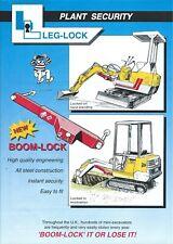 Equipment Ad - Leg-Lock - Mini-Excavator Anti-Theft Device (E5731)