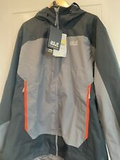 Jack Wolfskin Mens Outdoor Wear Jacket Coat Black And Grey Brand New Tagged 2XL