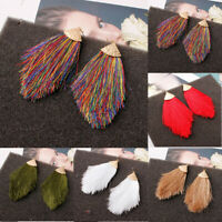 Boho Drop Earrings Fringe Dangle Jewelry Tassel Women Hook Bohemian Long Chunky