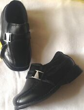 Shoes dress boys size 7.5 wide EUR 24 wide new Smartfit man made materials black