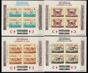 Dubai Block 23/26 B postfr./mnh Rotes Kreuz red cross  Michel 160 €