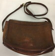 vintage Coach Casino Shoulder Bag Handbag Purse Leather distressed