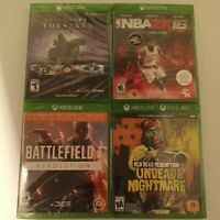 Lot of 4 Xbox One games: Destiny 2,NBA 2K16, Battlefield, Red Dead Redemption UN