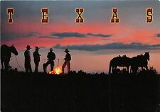 B52258 Texas Cowboy campfire at sunset   usa