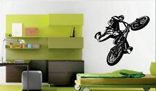Wall Decal Room Sticker Bedroom Sport Bike BMX Bicycle Jump Kids Nursery bo2948