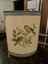 Lady Clare Bull Finch Redbreast Waste Paper Bin Basket Vintage