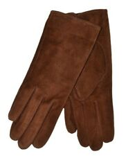 Dents Ladies Emily Suede Gloves. Black Navy Red Tan Mocca Thistle Pink 7-2317 Cognac S