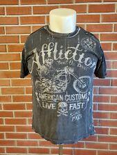 Affliction Short Sleeve Crewneck T-Shirt Mens Large Live Fast Cotton Reversible