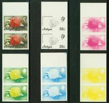 Antigua 1976 Flame Flower 35c progressive proof pairs