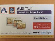 Simkarte Aldi Talk Starter Paket Set inkl. 10 Euro Startguthaben MEDION mobile