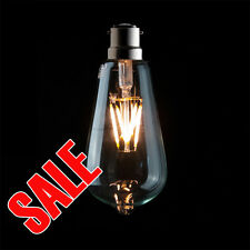 Carbon Filament ECO LED Edison Squirrel Cage Pear Shape TearDrop Bulb Lamp Globe