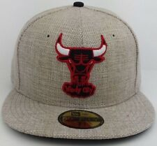 Chicago Bulls NBA New Era 59FIFTY fitted/hat/Cap Toile/Linen Material