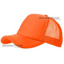 Trucker Hat Meshback Baseball Cap Snapback Adjustable Solid Plain Foam Blank Men
