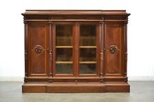 Antique French Renaissance Style Bookcase Short Height