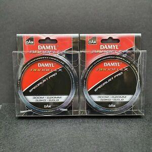 2x 300m DAM Damyl Nanoflex Pro Monofile Angelschnur 0.20mm 3,9kg UL Forelle  Top