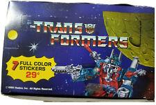 1986 DIAMOND TRANSFORMERS THE MOVIE 100 PACK STICKER BOX *NICE* 100 PACKS