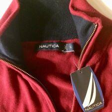 Nautica Quarter Zip Sweater Pullover Mens Large New