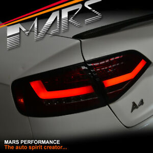 Smoked Red LED Bar Tail Lights for AUDI A4 B8 Sedan (Replace Stock LED Lights)