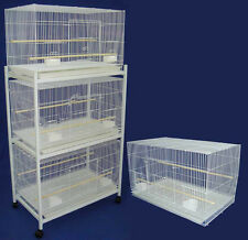 Lot of 4 Large Bird Breeding Flight Bird Cages 30x18x18 With Rolling Stand Wt