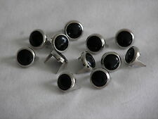 50 NEW HARLEY BLACK/CHROME STUDS FOR MOTORCYCLE SEATS,SADDLE BAGS,CHAPS, NEW