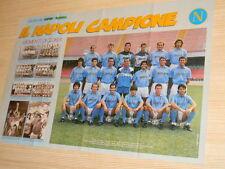Q26 Poster il Napoli Campione retro Cagliari Amore sardo