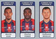 N°546 ESOR - FOMEN - MOULLEC # CLERMONT FOOT STICKER PANINI FOOT 2012