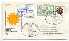 FFC 1973 Lufthansa PRIMO VOLO LH 484/485 Boeing 707 - Francoforte Nassau Bahamas