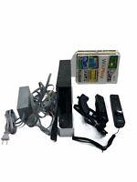 Nintendo Wii RVL-101 Black Console w/ Sensor, RCA & Power Cables 4 Games