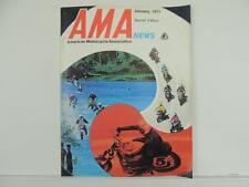 Vintage Jan 1971 AMA NEWS Magazine Kawasaki Suzuki Hustler Rebel Blazer L3736
