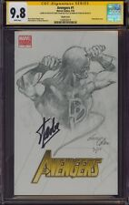 AVENGERS 1 CGC 9.8 2X SS GENE COLAN SKETCH ART DAREDEVIL SIGNED BY STAN LEE MINT